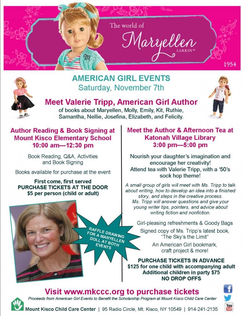American Girl Event Flyer Ticket Information